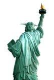Detrás de la estatua de NY de la libertad Fotos de archivo libres de regalías