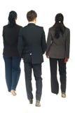 Detrás de los hombres de negocios el recorrer Imagen de archivo