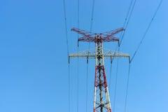 Detspänning trådtornet Arkivbilder