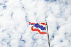 Detta är det första bruket av nationsflaggan av Thailand Fotografering för Bildbyråer