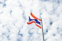 Detta är det första bruket av nationsflaggan av Thailand Royaltyfria Foton