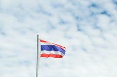 Detta är det första bruket av nationsflaggan av Thailand Arkivfoto