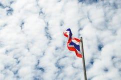 Detta är det första bruket av nationsflaggan av Thailand Arkivfoton