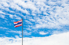 Detta är det första bruket av nationsflaggan av Thailand Royaltyfri Bild