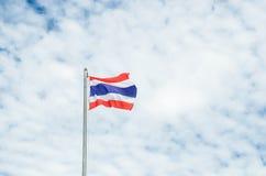 Detta är det första bruket av nationsflaggan av Thailand Royaltyfria Bilder