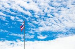 Detta är det första bruket av nationsflaggan av Thailand Arkivbilder