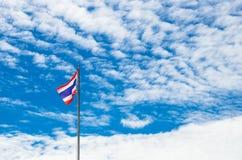 Detta är det första bruket av nationsflaggan av Thailand Royaltyfri Foto