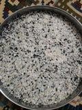Detta är fotoet av blandaren av dal och ris arkivfoton