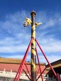 Detta är himmelljuset av det kinesiska Forbiddenet City royaltyfri fotografi