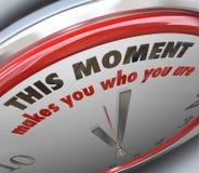Detta ögonblick gör dig som du är klockavändpunktsanning Arkivbilder