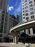 Miami i stadens centrum stående royaltyfria foton