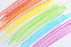 Crayonen färgar arkivbild