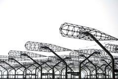 Dettagli alti vicini del picchio russo abbandonato del radar di Duga alla zona di esclusione di Cernobyl di alta radioattività, P Immagini Stock Libere da Diritti