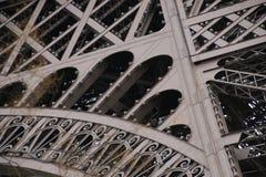 Dettagli architettonici della torre Eiffel, Parigi, Francia, Europa Fotografia Stock Libera da Diritti