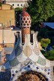Dettagli architettonici di Guarda del della casa in parco Guell Fotografie Stock