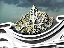 Dettagli architettonici di modello da un metallo Immagini Stock Libere da Diritti