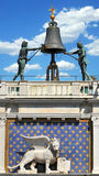 Dettagli astrologici della torre di orologio Fotografie Stock Libere da Diritti