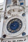 Dettagli astrologici della torre di orologio Quadrato del contrassegno della st, Venezia Fotografie Stock