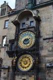 Dettagli astronomici dell'orologio di Città Vecchia Hall Tower a Praga, repubblica Ceca Fotografia Stock