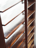 Dettagli ciechi della decorazione interna della tenda di finestra immagine stock libera da diritti