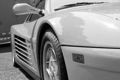 Dettagli classici del lato di Ferrari Testarossa immagine stock libera da diritti