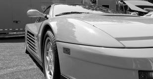 Dettagli classici della parte anteriore di Ferrari Testarossa fotografia stock