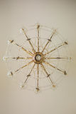 Dettagli a cristallo d'annata del candeliere Fotografie Stock Libere da Diritti
