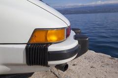 Dettagli d'annata della parte posteriore dell'automobile sportiva Immagini Stock