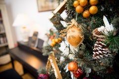 Dettagli da un albero di Natale Immagine Stock
