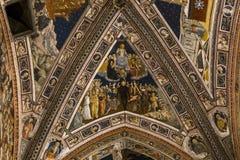 Dettagli dei Di San Giovanni, Siena, Italia di battistero Immagine Stock