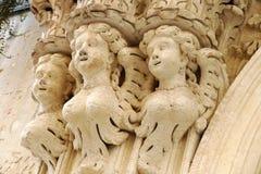 Dettagli del barocco che può essere ammirato nella città di Lecce in Puglia, Italia fotografia stock libera da diritti