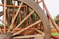 Dettagli del buckboard della ruota Fotografie Stock