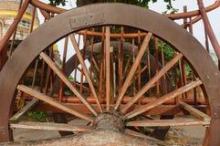 Dettagli del buckboard della ruota Fotografia Stock Libera da Diritti