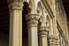 Dettagli del castello gotico Fotografia Stock Libera da Diritti