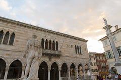 Dettagli del centro storico di Udine Fotografia Stock Libera da Diritti