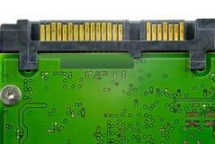Dettagli del circuito con i connettori fotografia stock libera da diritti