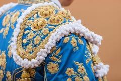 Dettagli del costume del torero fotografia stock
