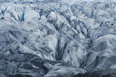 Dettagli del ghiaccio in un ghiacciaio, a sud dell'Islanda Fotografia Stock