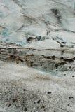 Dettagli del ghiaccio in un ghiacciaio, a sud dell'Islanda Immagine Stock Libera da Diritti