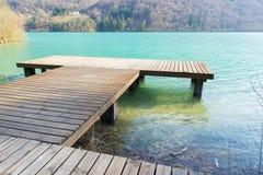Dettagli del lago Barcis Fotografia Stock