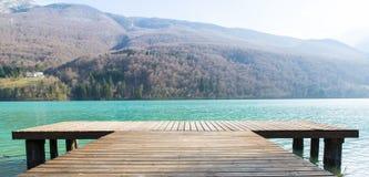 Dettagli del lago Barcis Fotografia Stock Libera da Diritti