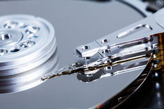 Dettagli del meccanismo di disco rigido Fotografia Stock Libera da Diritti
