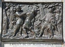 Dettagli del monumento di Paul de Chomedey, sieur de Maisonneuve Fotografia Stock