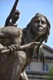 Dettagli del monumento di Paul de Chomedey, sieur de Maisonneuve Fotografia Stock Libera da Diritti