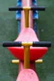 Dettagli del movimento alternato, attrezzatura all'aperto del gioco dei kid's Fotografia Stock Libera da Diritti