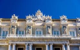 Dettagli del palazzo ducale a Genova fotografie stock libere da diritti