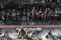 Dettagli del tempio cinese Fotografia Stock Libera da Diritti