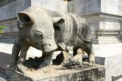Dettagli del tempio di Wat Arun a Bangkok Immagini Stock Libere da Diritti