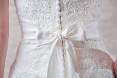 Dettagli del vestito da sposa Fotografia Stock Libera da Diritti