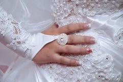 Dettagli del vestito da sposa Immagine Stock Libera da Diritti